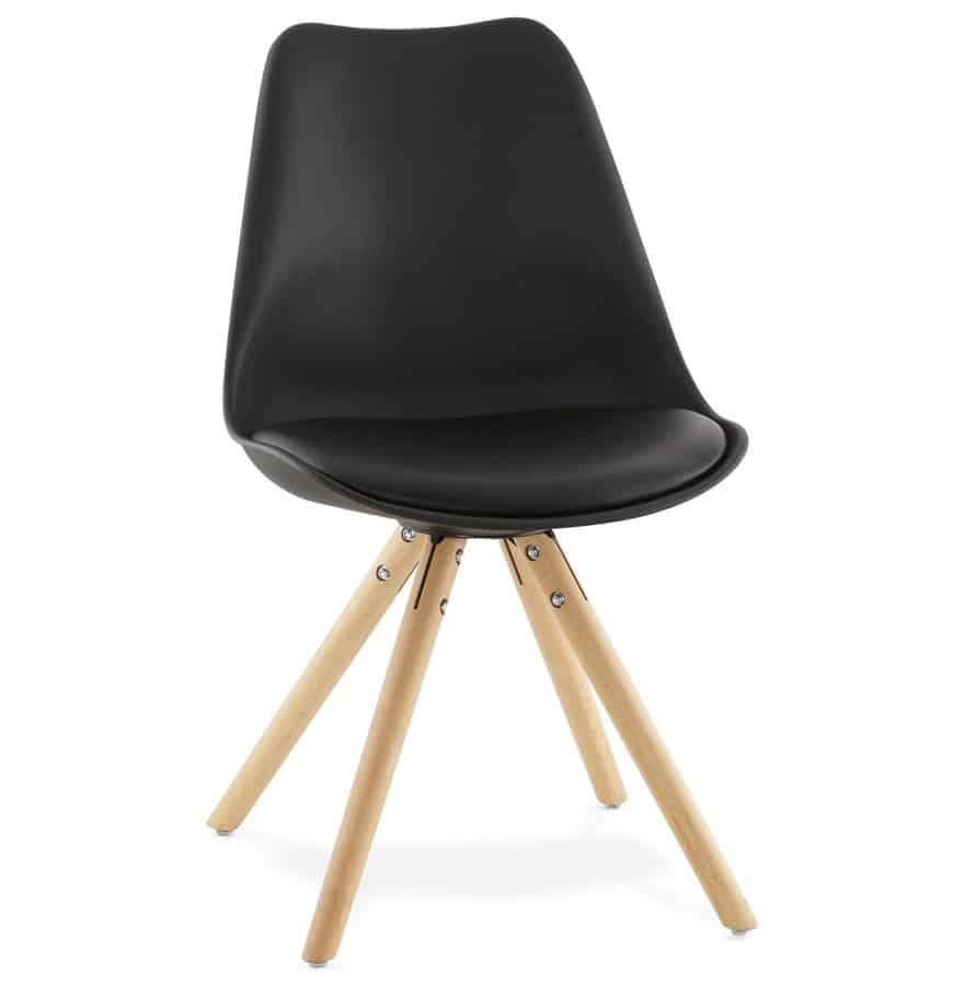 Chaise noir Nordica design Scandinave Techneb shop