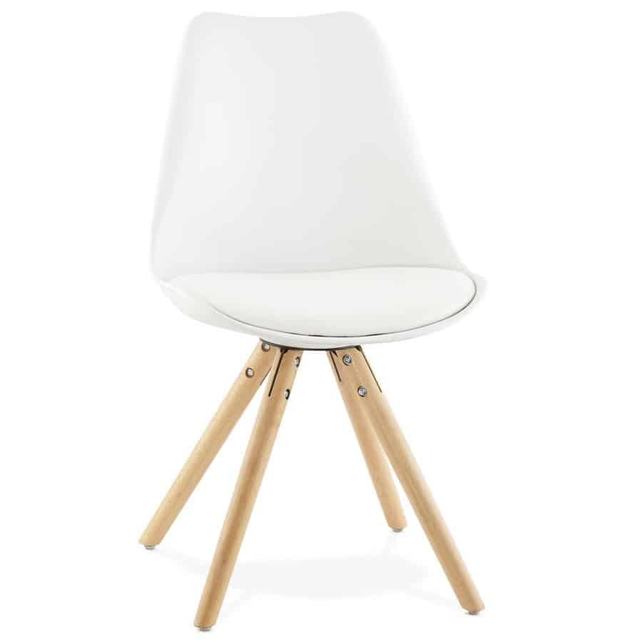 Chaise blanche Nordica design Scandinave Techneb shop