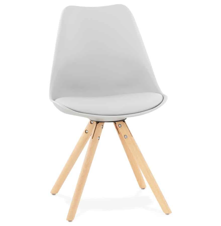 Chaise grise Nordica design Scandinave Techneb shop