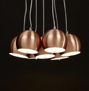 Lampe suspendue style industriel Gela plusieurs boules techneb shop
