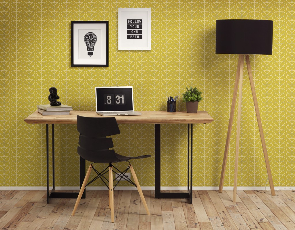 Scandinave Bureau design Scandinave chaise et lampe Techneb.com