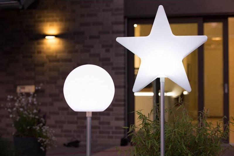 LAMPADAIRE BOULE ET ETOILE AVEC LED