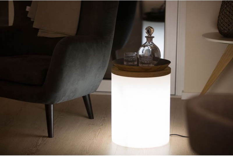 TABLE D'APPOINT LUMINEUSE