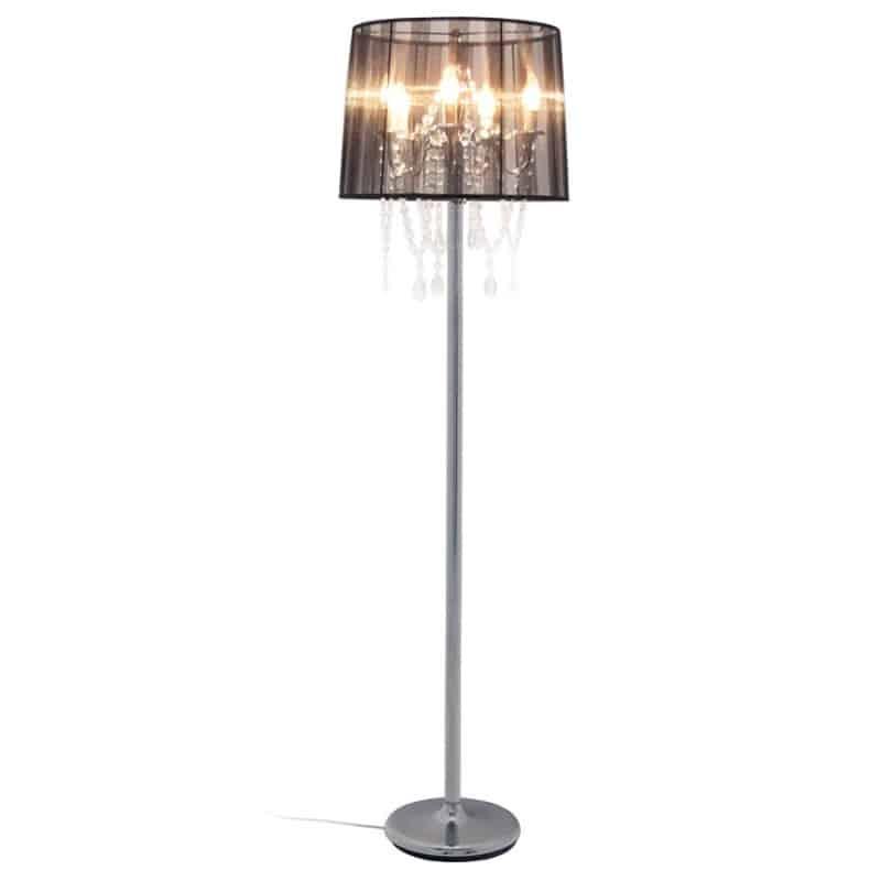 Abat jour original monté sur lampe sur pied