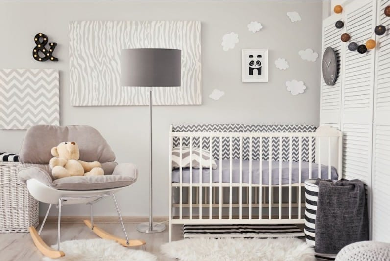 Lampe sur pied chambre bébé