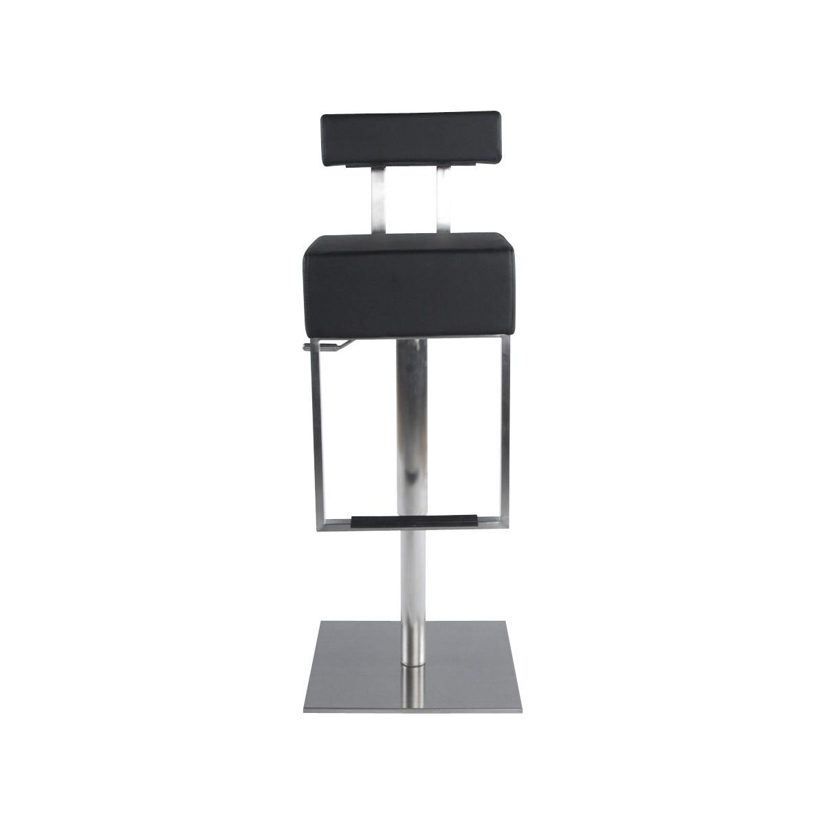 tabouret moderne gardon en simili cuir et acier bross. Black Bedroom Furniture Sets. Home Design Ideas