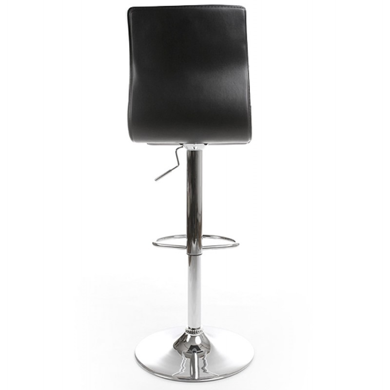 tabouret de bar marne en simili cuir noir. Black Bedroom Furniture Sets. Home Design Ideas