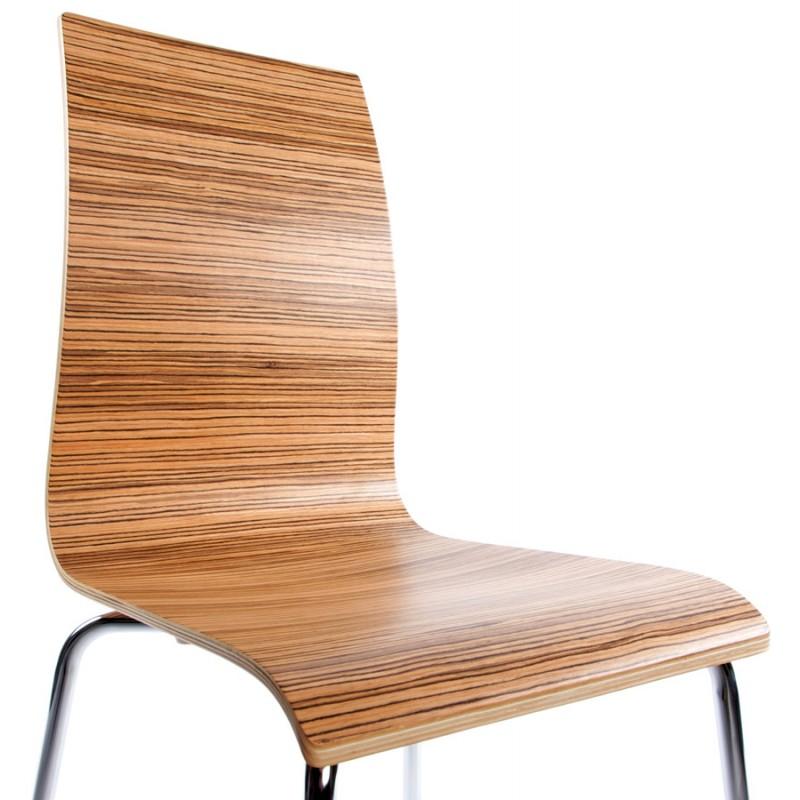 chaise polyvalente oust en bois ou d riv et m tal chrom. Black Bedroom Furniture Sets. Home Design Ideas