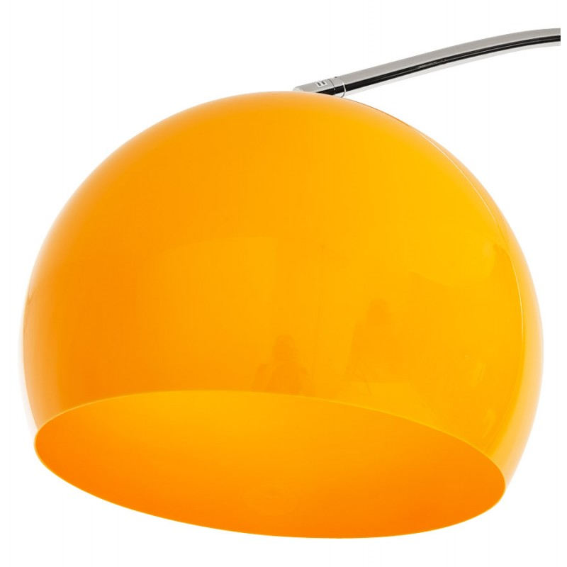 lampe sur pied design moerol xl en acier chrom grande et orange fran ais french. Black Bedroom Furniture Sets. Home Design Ideas
