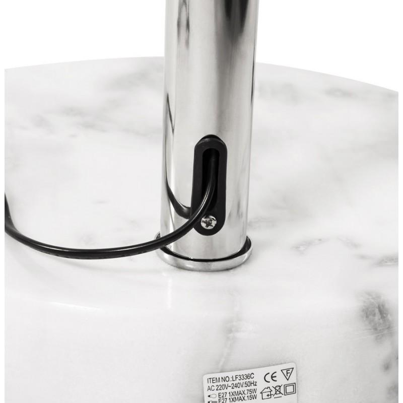 lampe sur pied design moerol xl en acier chrom grande et blanche fran ais french. Black Bedroom Furniture Sets. Home Design Ideas
