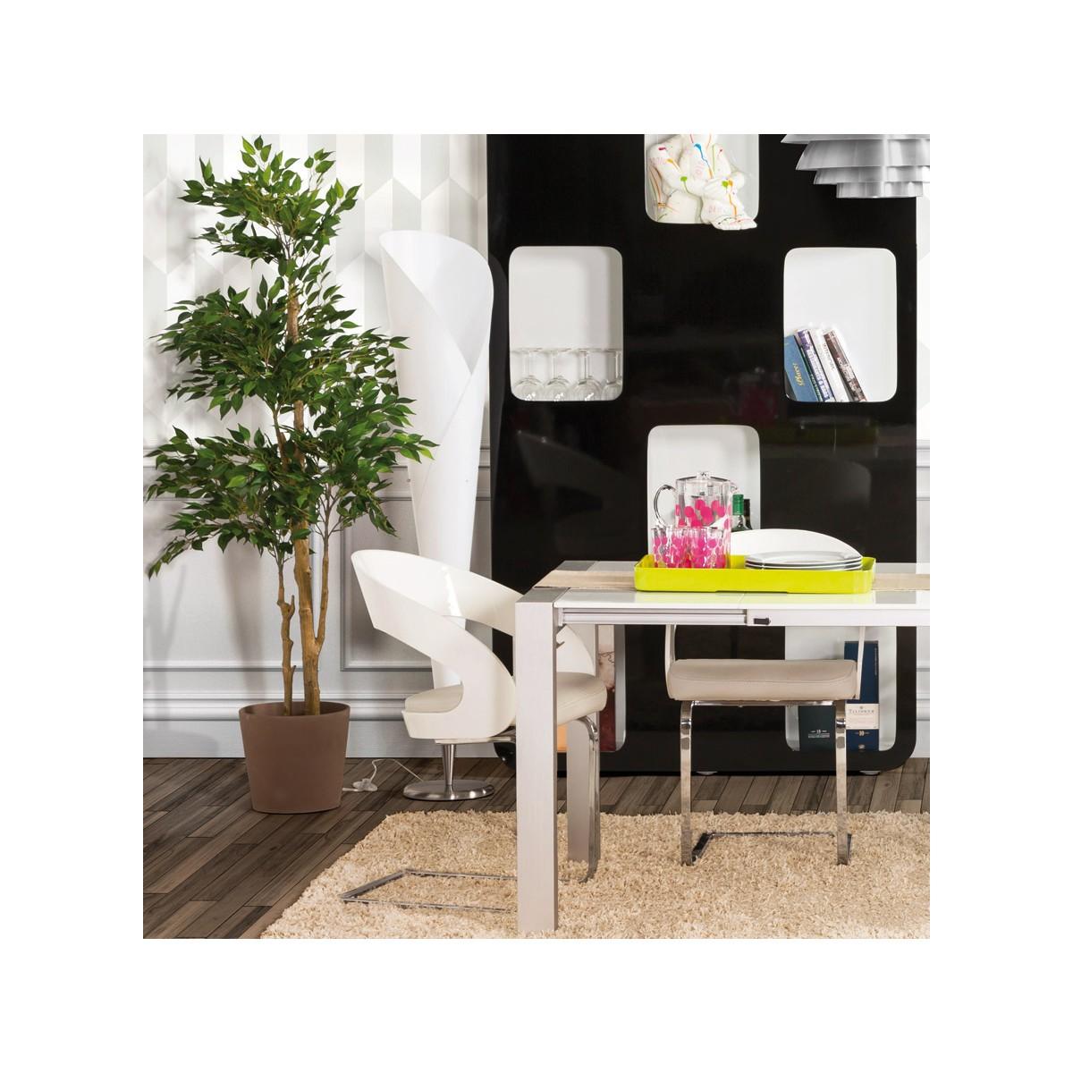 sterne design floor brushed steel lamp white english. Black Bedroom Furniture Sets. Home Design Ideas
