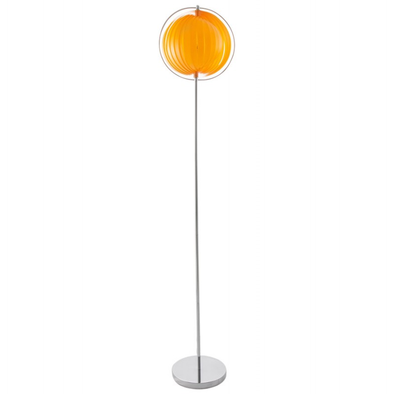 lampe sur pied design barbican big en acier chrom orange fran ais french. Black Bedroom Furniture Sets. Home Design Ideas