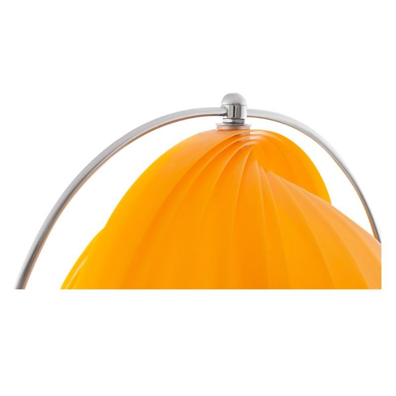 Lampe sur pied design barbican big en acier chrom orange for Lampe sur pied design