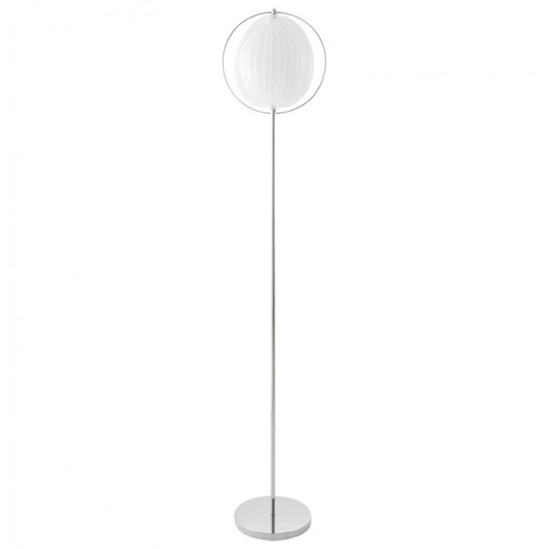 lampe sur pied design barbican big en acier chrom blanc. Black Bedroom Furniture Sets. Home Design Ideas