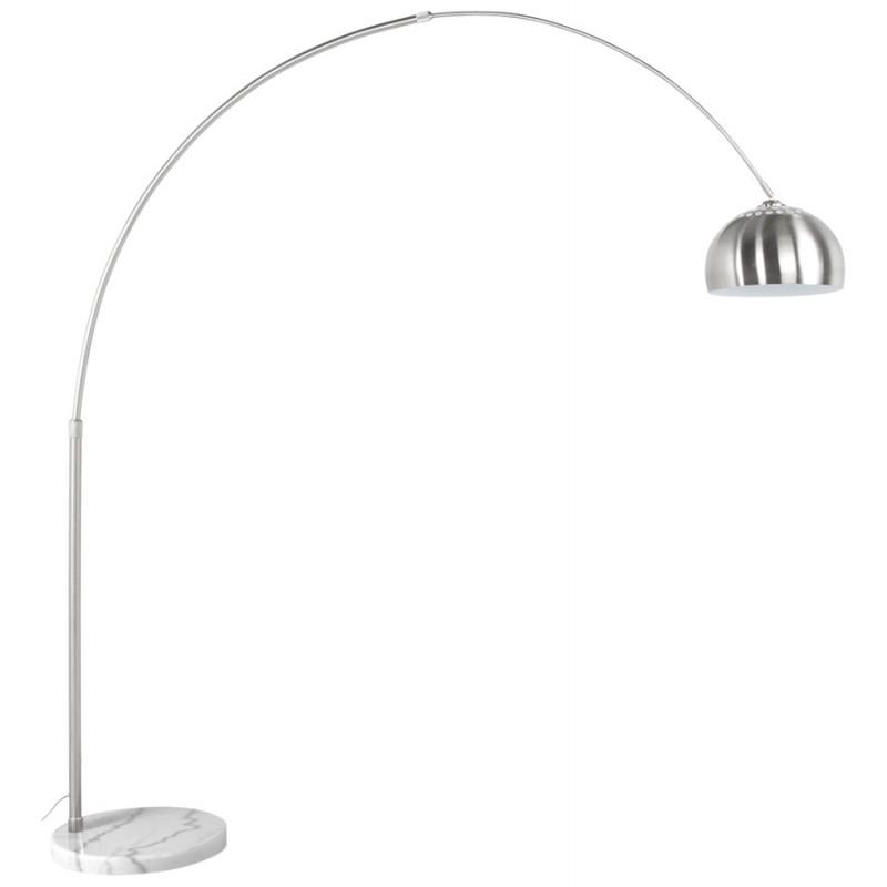 lampe sur pied design wilson en acier bross acier bross. Black Bedroom Furniture Sets. Home Design Ideas
