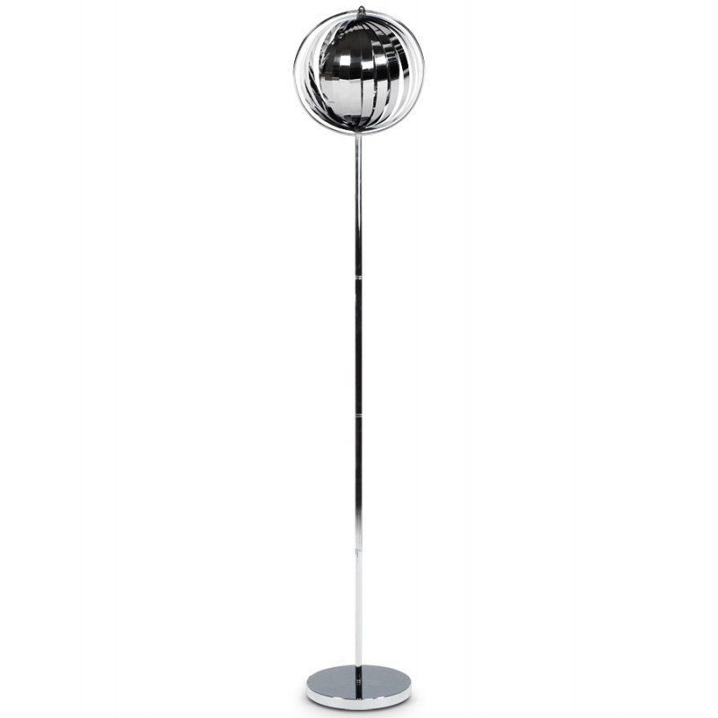 lampe sur pied design touraco big en acier chrom chrom. Black Bedroom Furniture Sets. Home Design Ideas