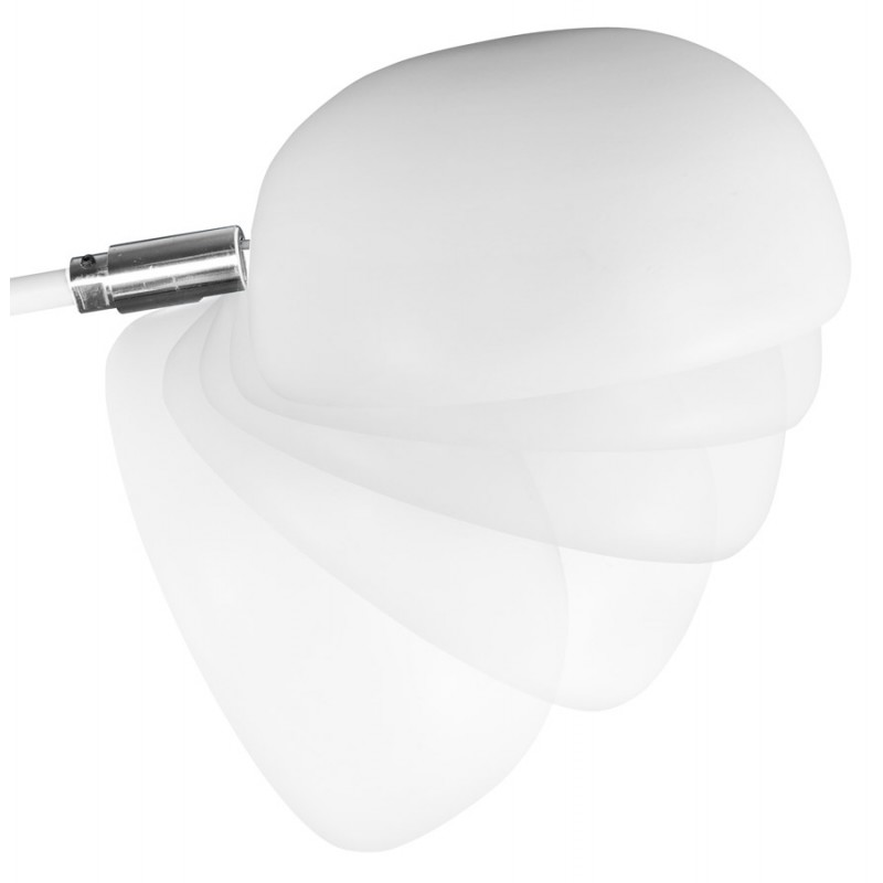 lampe sur pied design 5 abat jours rollier en m tal peint blanc. Black Bedroom Furniture Sets. Home Design Ideas