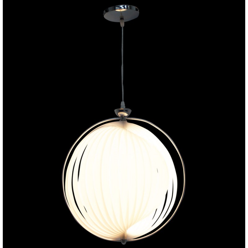 lampe suspension design moineau en m tal blanc fran ais french. Black Bedroom Furniture Sets. Home Design Ideas