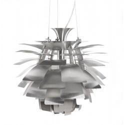 Lampe à suspension design AMYTIS en métal (argent)