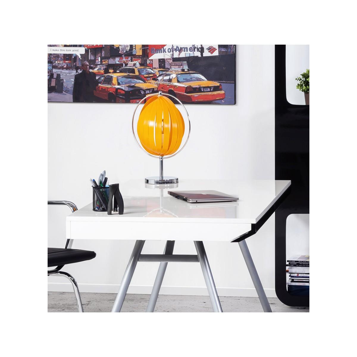 lampe de table design beche small en m tal orange. Black Bedroom Furniture Sets. Home Design Ideas