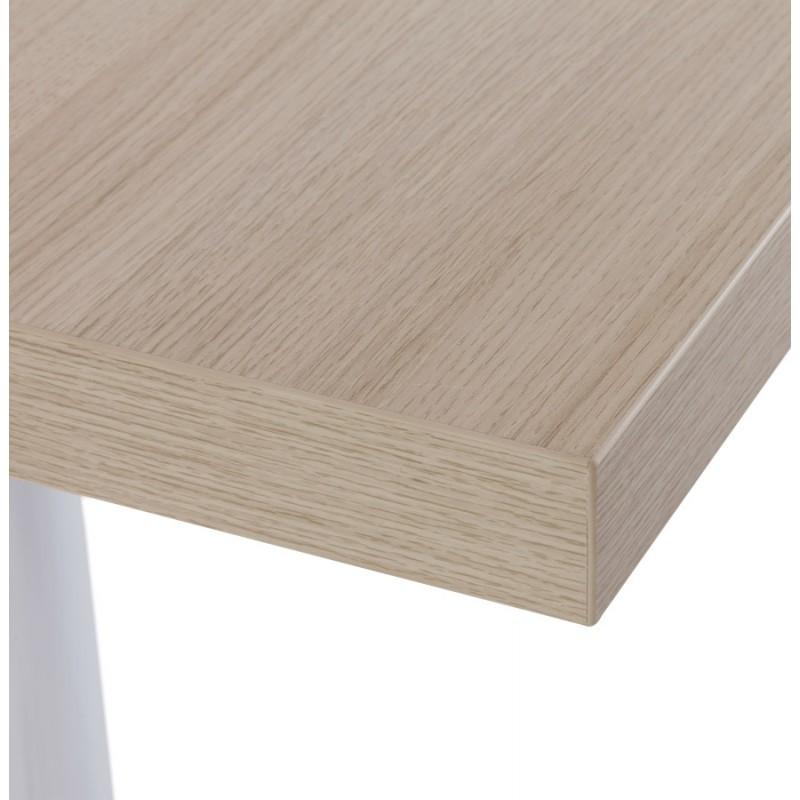 Plateau de table jasmine carr en bois naturel fran ais for Plateau de table bois