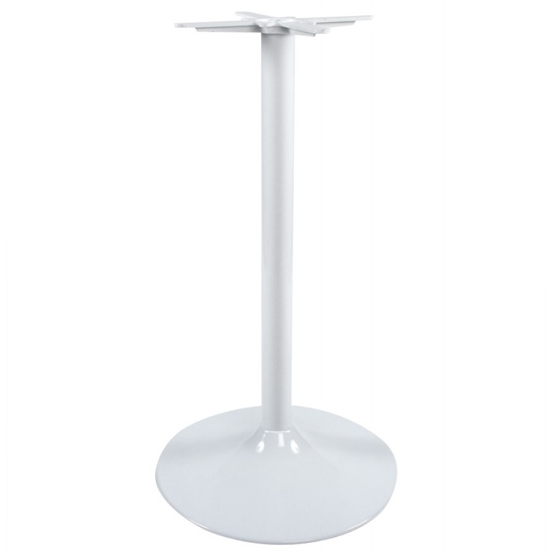 pied de table wind rond sans plateau en m tal 60cmx60cmx110cm blanc. Black Bedroom Furniture Sets. Home Design Ideas