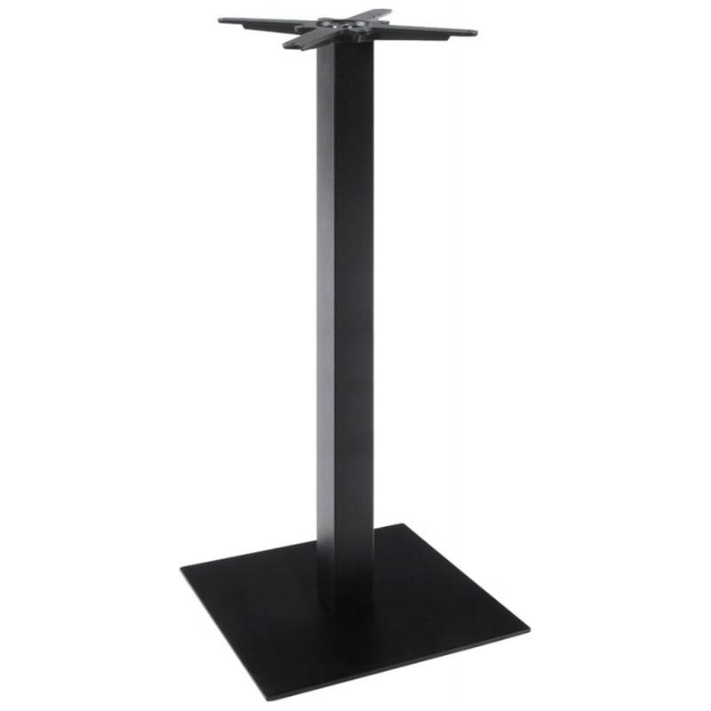 pied de table wind carr sans plateau de grande taille en m tal noir fran ais french. Black Bedroom Furniture Sets. Home Design Ideas