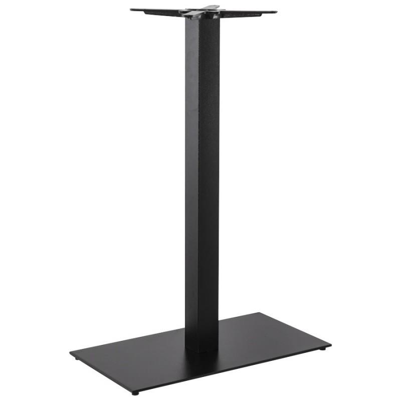 pied de table chaire rectangulaire en m tal 40cmx75cmx110cm noir. Black Bedroom Furniture Sets. Home Design Ideas