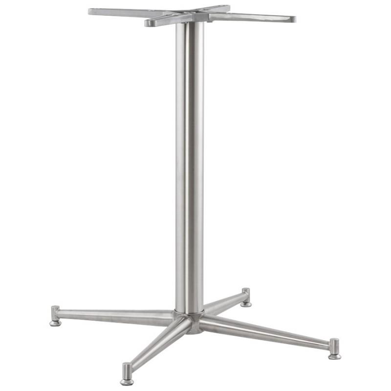 Pied de table veron forme croix en m tal 70cmx70cmx75cm for Pied de table reglable ikea