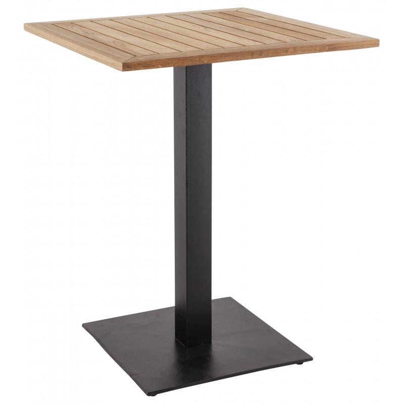 pied de table pary carr en m tal 50cmx50cmx90cm noir