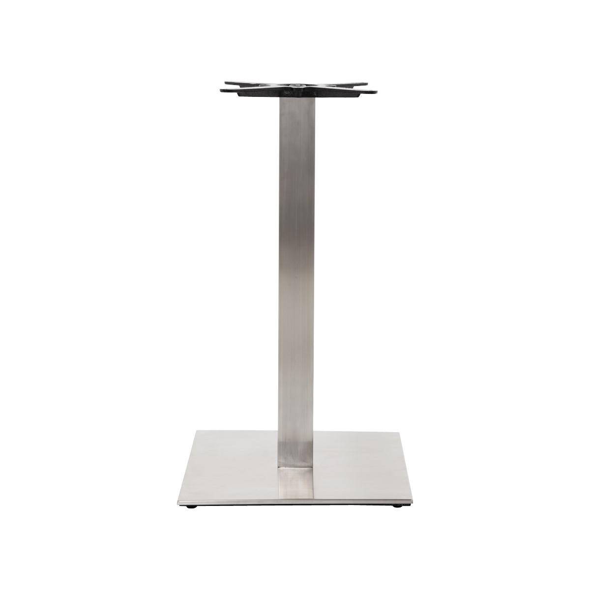 pied de table pary carr en m tal acier fran ais french. Black Bedroom Furniture Sets. Home Design Ideas