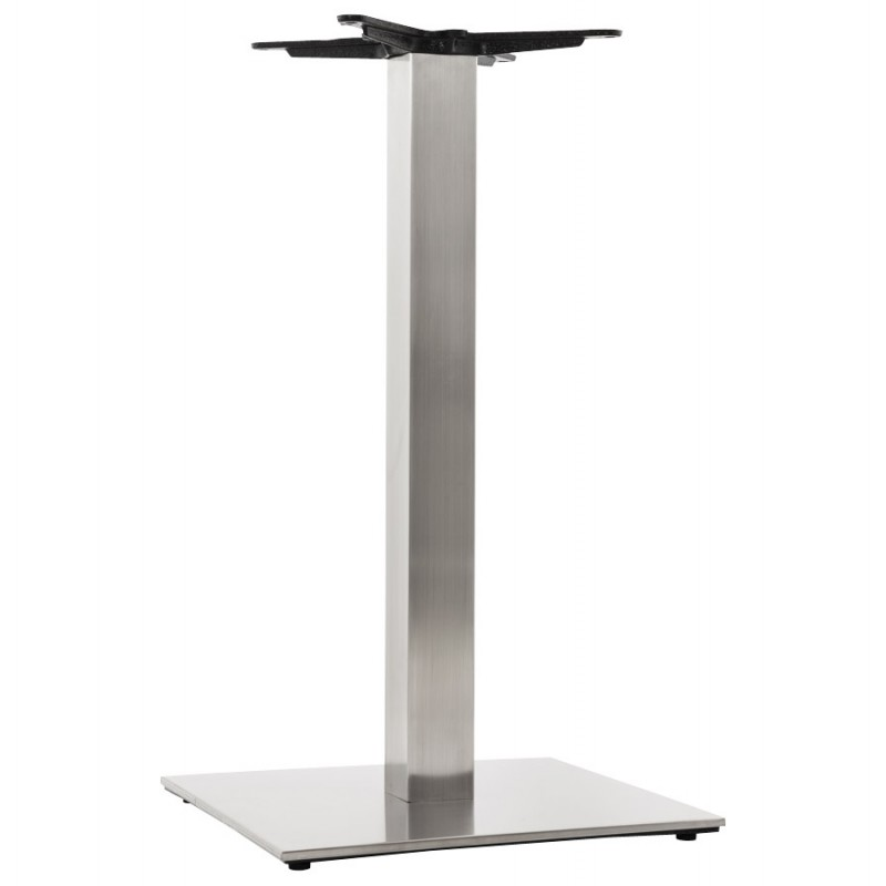 pied de table pary carr en m tal 50cmx50cmx90cm acier. Black Bedroom Furniture Sets. Home Design Ideas