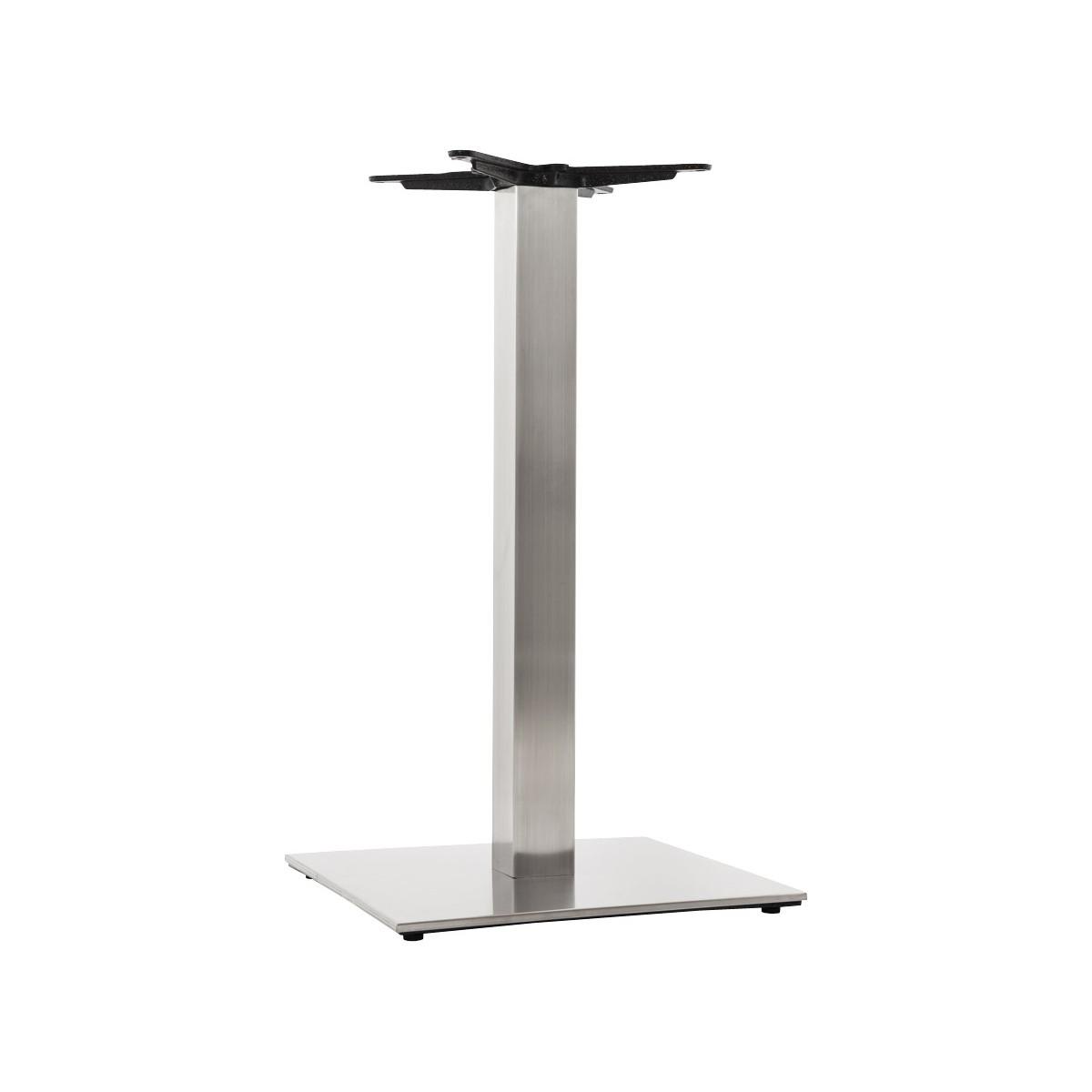Pied de table pary carr en m tal acier fran ais french - Pieds de table en metal ...