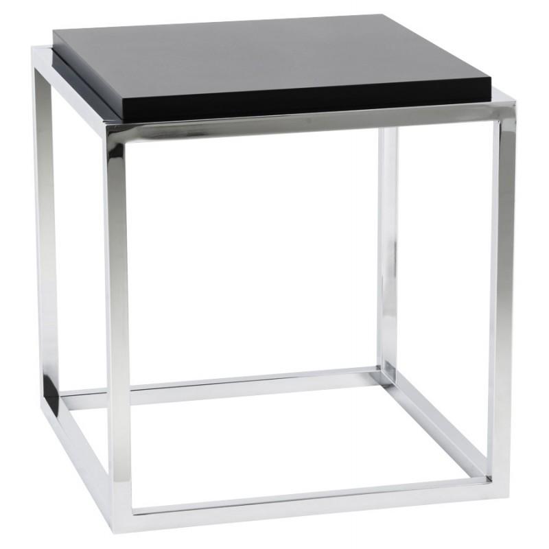 table d 39 appoint kvadra en bois ou d riv noir. Black Bedroom Furniture Sets. Home Design Ideas