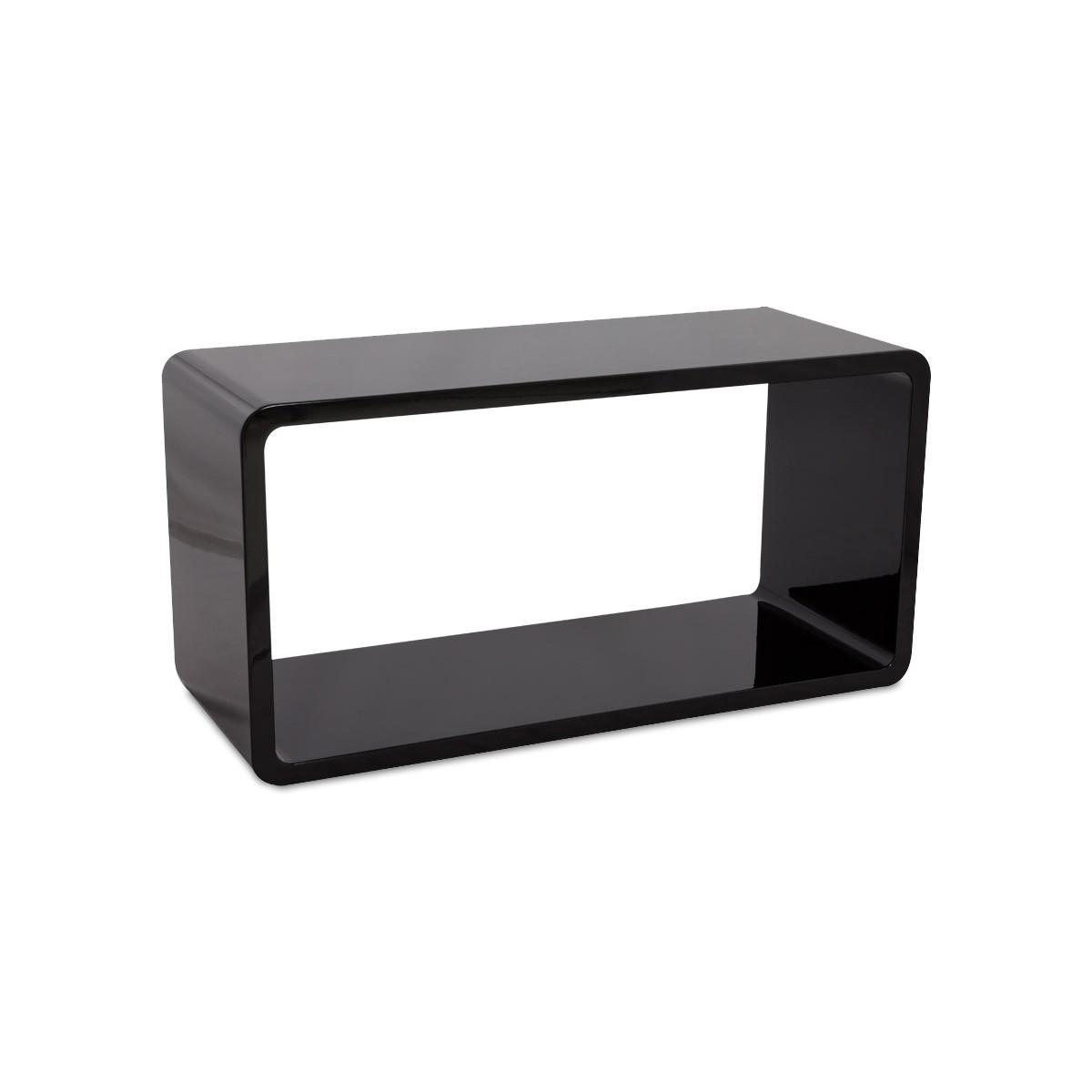 Table de salon recto en bois mdf laqu noir fran ais for Planche bois laque noir