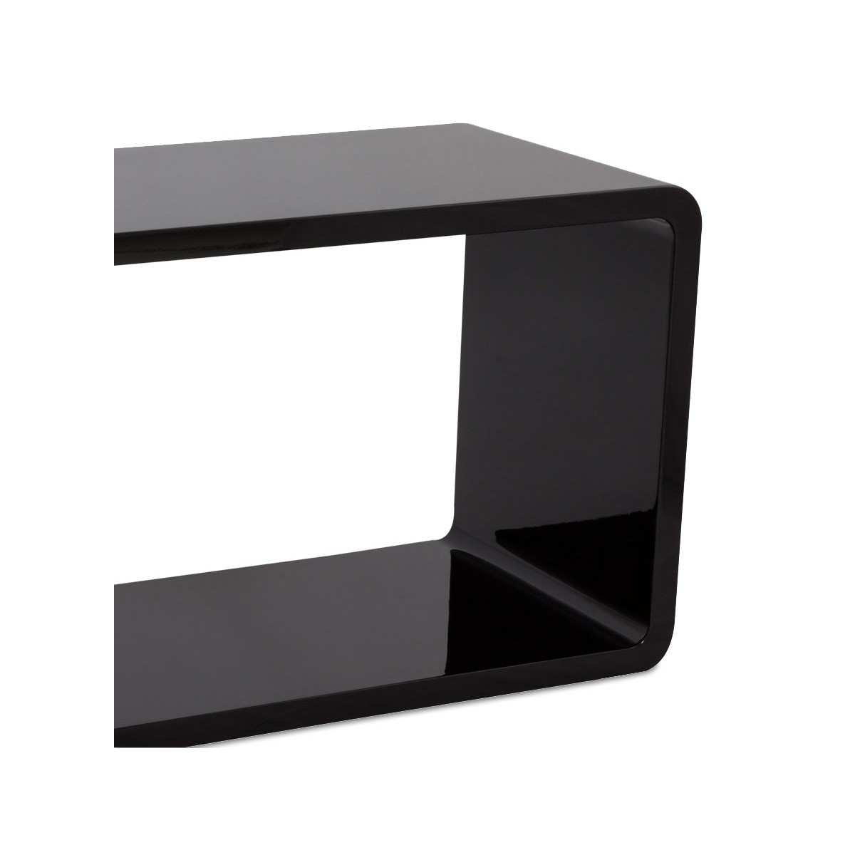 Table de salon RECTO en bois (MDF) laqué (noir) (Français (French)) -> Table Salon Mdf
