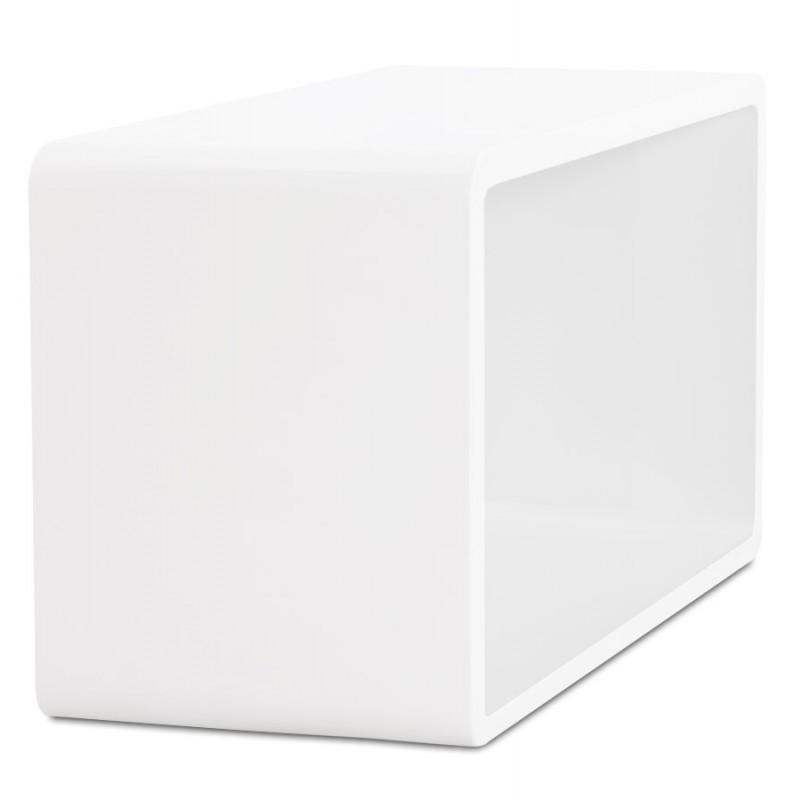 Table de salon recto en bois mdf laqu blanc fran ais for Table salon blanc laque