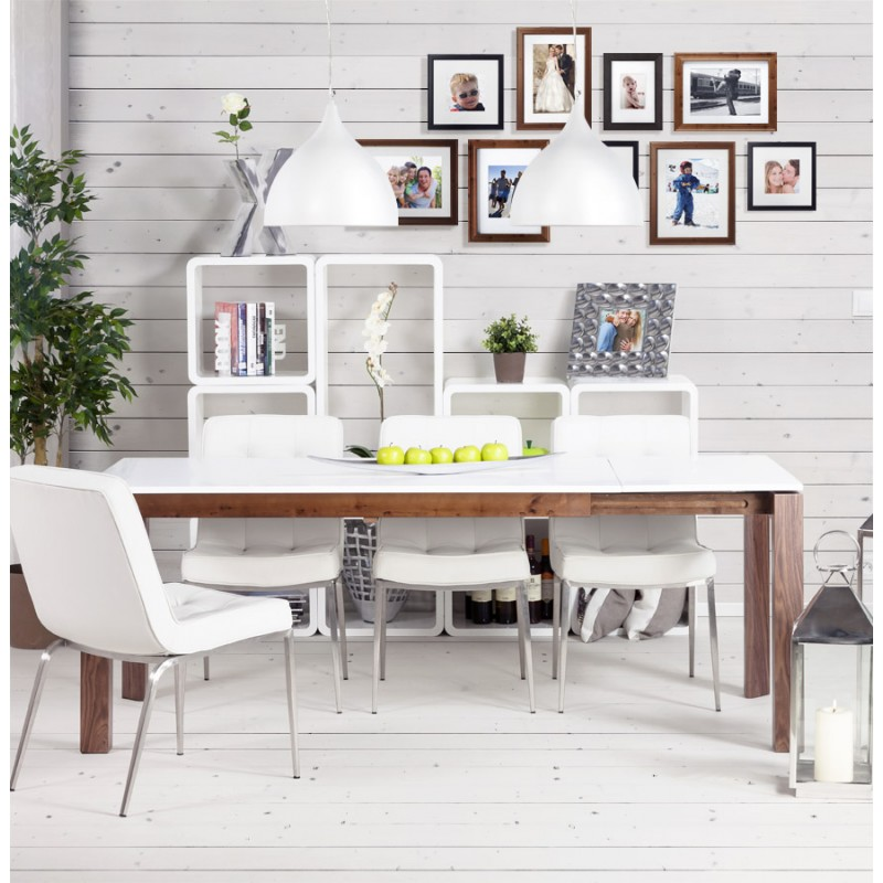 table de salon recto en bois mdf laqu blanc. Black Bedroom Furniture Sets. Home Design Ideas