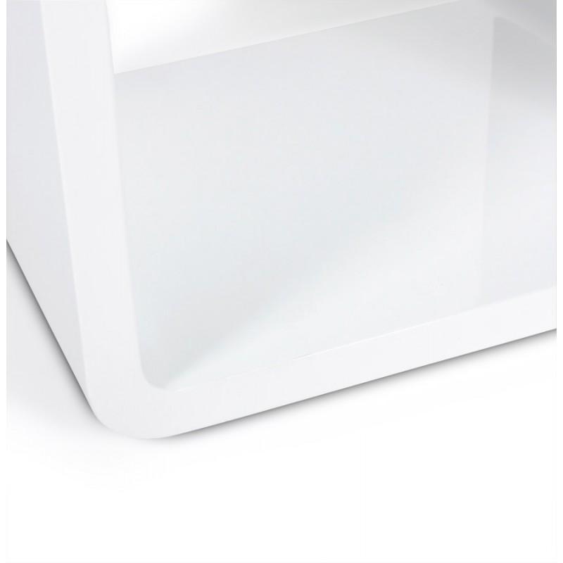Cube usage polyvalent verso en bois mdf laqu blanc fran ais french - Cube blanc laque ikea ...