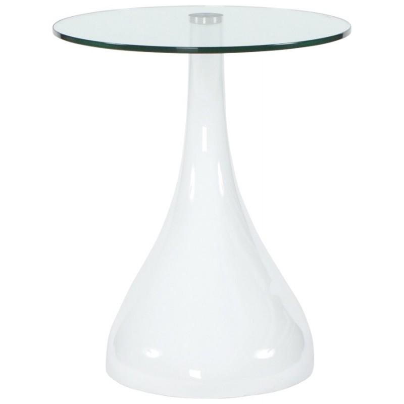 Console ou table d 39 appoint tear en fibre de verre tremp blanc fran ai - Table verre trempe blanc ...