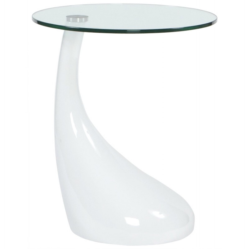 Console or table tarn tempered fiberglass white english - Console table d appoint ...