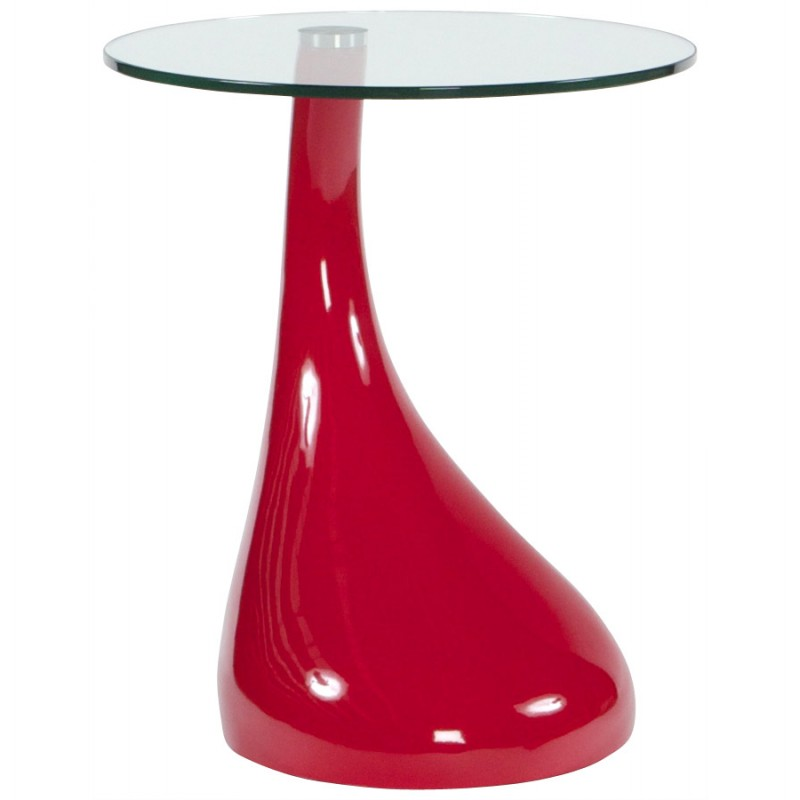 console ou table d 39 appoint tear en fibre de verre tremp rouge. Black Bedroom Furniture Sets. Home Design Ideas