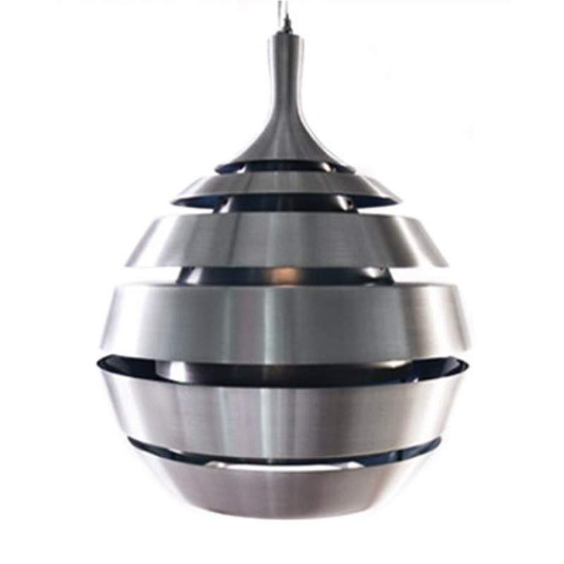 lampe suspendue design trogon en m tal argent. Black Bedroom Furniture Sets. Home Design Ideas