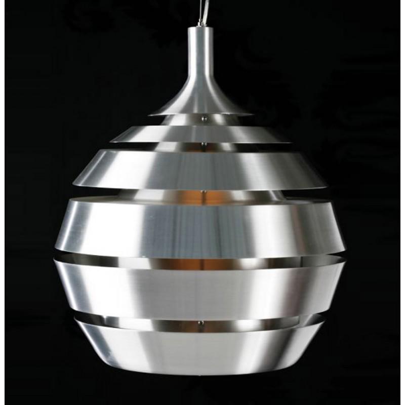 Lampe suspendue design trogon en m tal argent fran ais french - Lampe suspendue design ...
