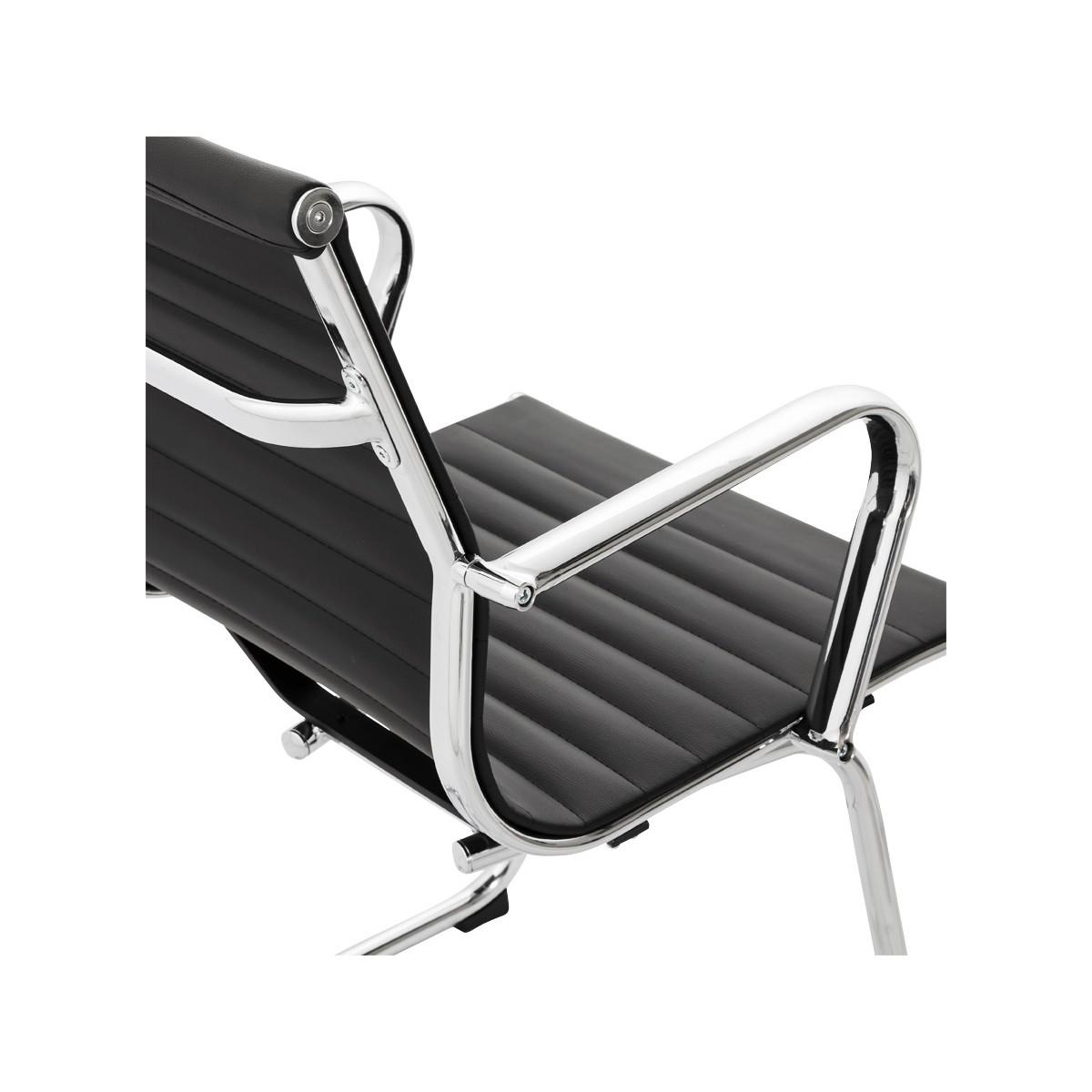 fauteuil de bureau courol en simili cuir noir fran ais. Black Bedroom Furniture Sets. Home Design Ideas