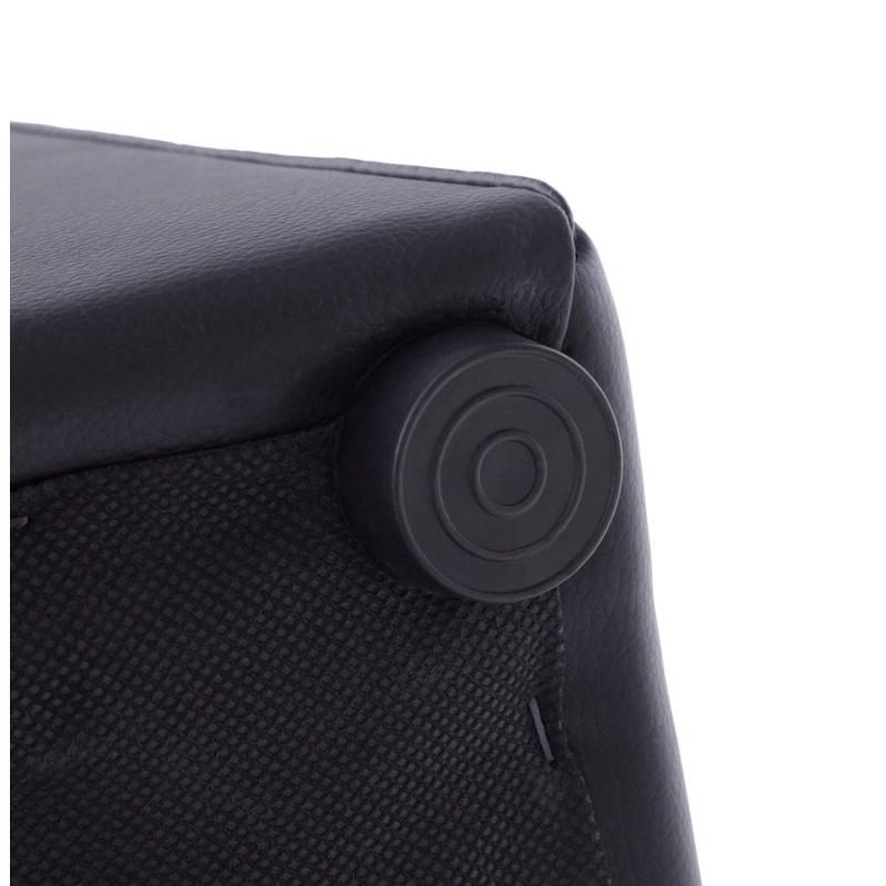 Pouf square CAILLE simi leather (black) (English (English))