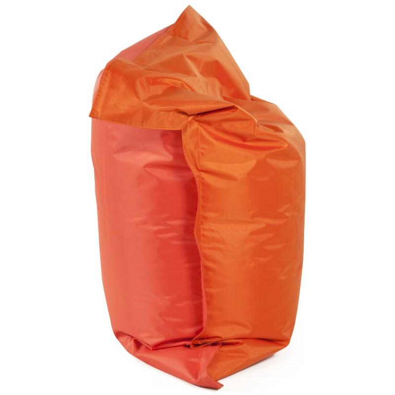 pouf rectangulaire buse en textile orange fran ais french. Black Bedroom Furniture Sets. Home Design Ideas