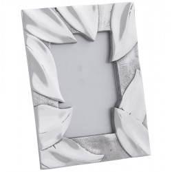 Cadre photos petit format FEUILLE en aluminium (aluminium)