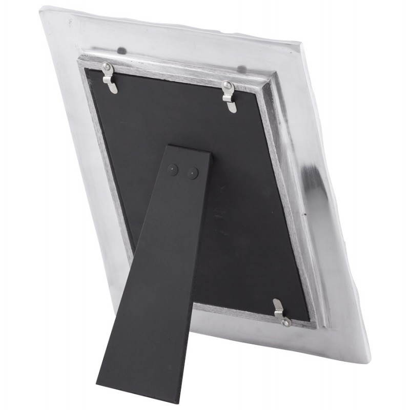 cadre photos petit format feuille en aluminium aluminium fran ais french. Black Bedroom Furniture Sets. Home Design Ideas