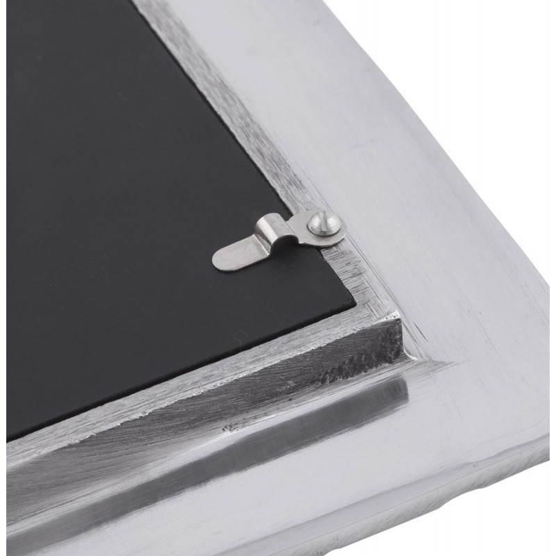 cadre photos petit format feuille en aluminium aluminium. Black Bedroom Furniture Sets. Home Design Ideas